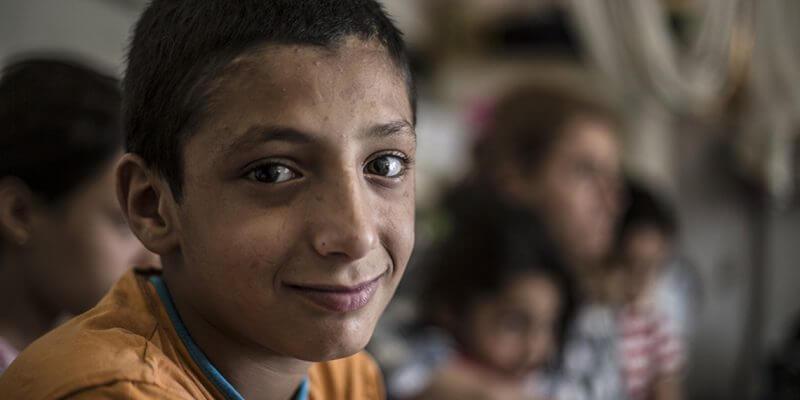 Sultan føler sig ikke som et barn mere. Med sine kun 11-år har han nu et ansvar som en voksen. Foto: Nour Wahid/Save the Children