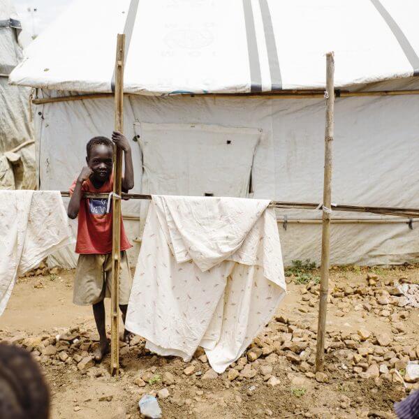 Millioner af børn lever på flugt fra krigen i Sydsudan. Foto: Jakob Dall